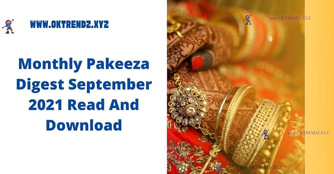 Monthly Pakeeza Digest September 2021 Read And Download