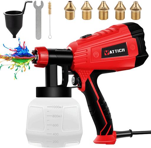 YATTICH Paint Sprayer, High Power HVLP Spray Gun