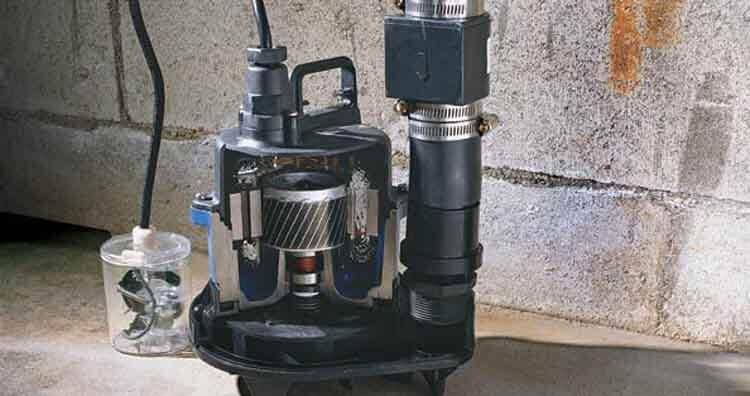 replacing a sump pump