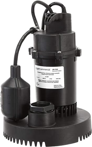 Amazon Commercial 1/3 HP Thermoplastic Submersible