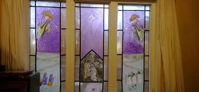 Painting  Window to Look Like Stained Glass