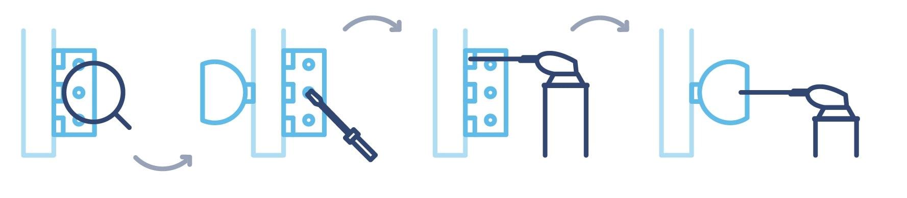 How to oiling door hinge