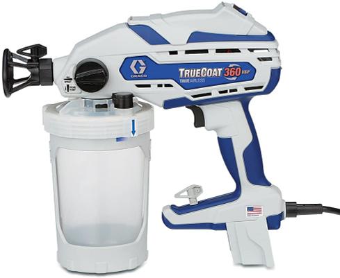 1. Best Overall: Graco TrueCoat 360 Airless Paint Sprayer