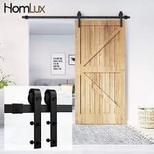 Homlux 6ft Heavy Duty Sturdy Sliding Barn Door Hardware